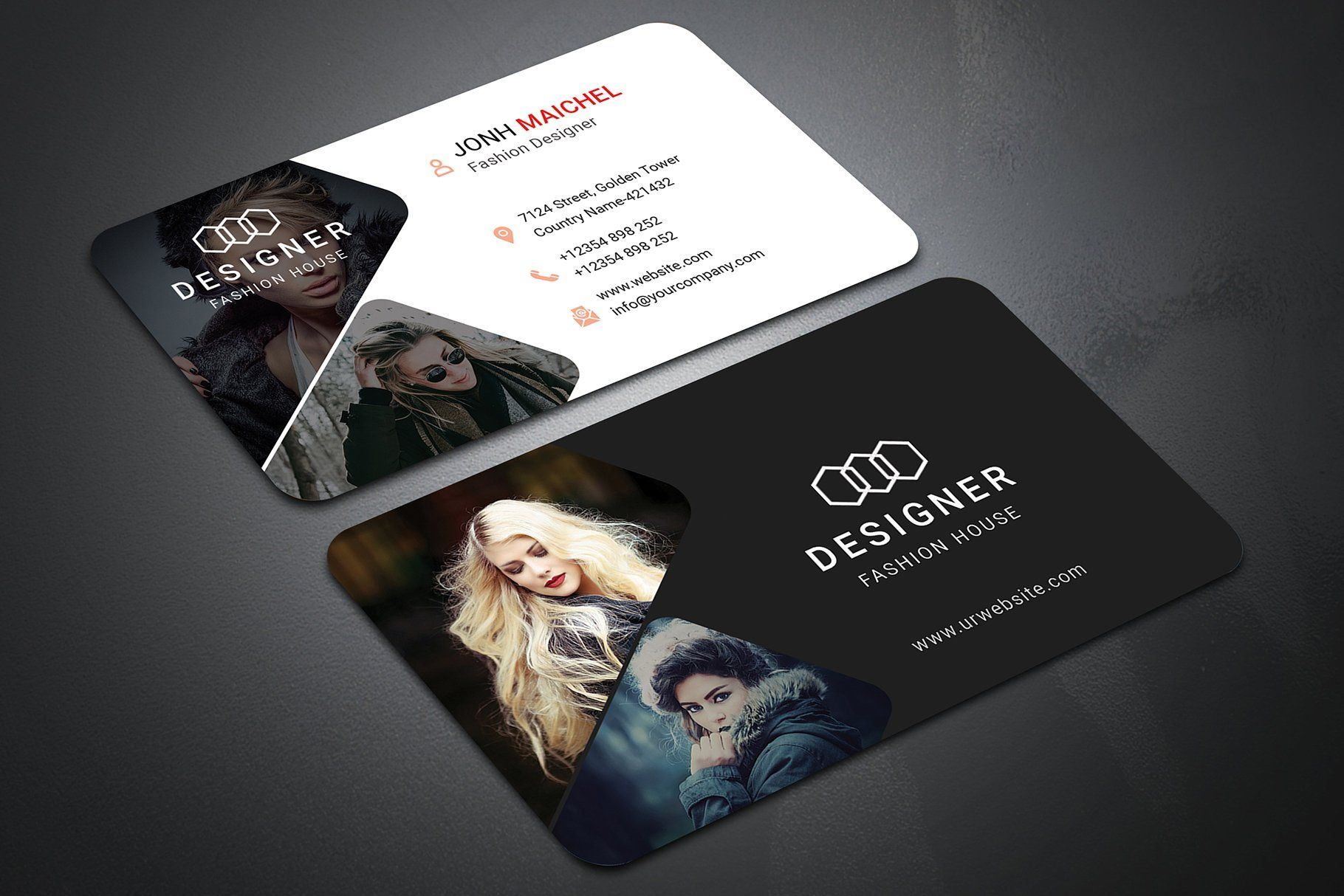 Fashion Business Card Vol 02 Fashion Business Cards Business Cards Creative Business Card Stand