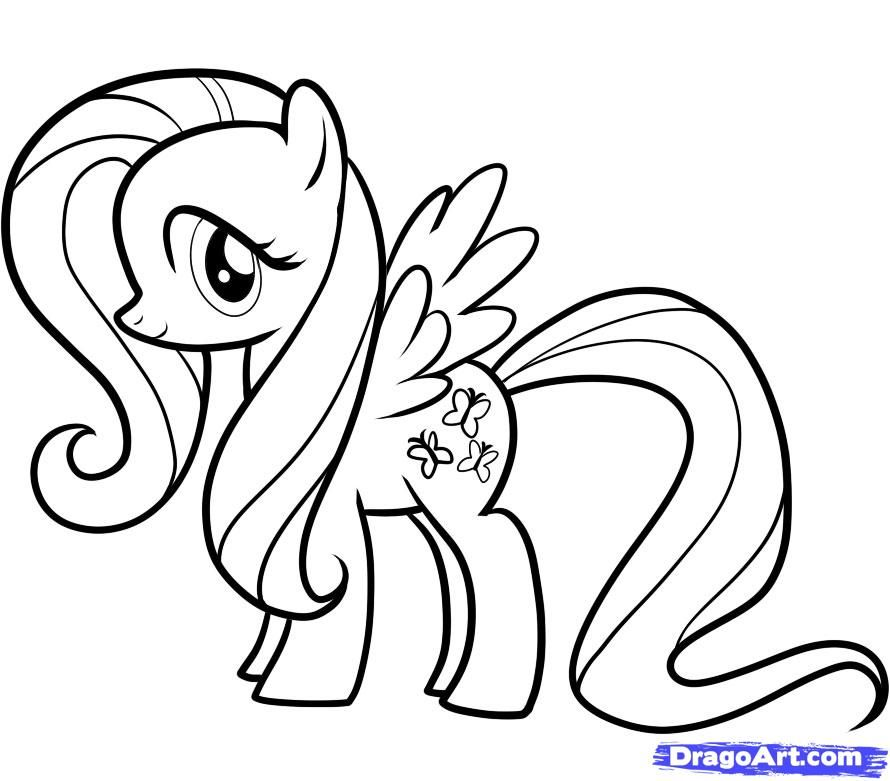 mlp printable coloring pages | How to Draw Fluttershy, My Little ...