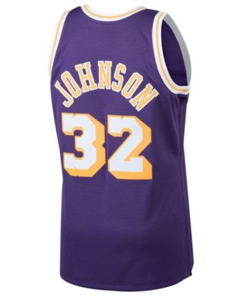 15e2a0dd0f7 Mitchell   Ness Men s Magic Johnson Los Angeles Lakers Hardwood Classic  Swingman Jersey - Purple XXL