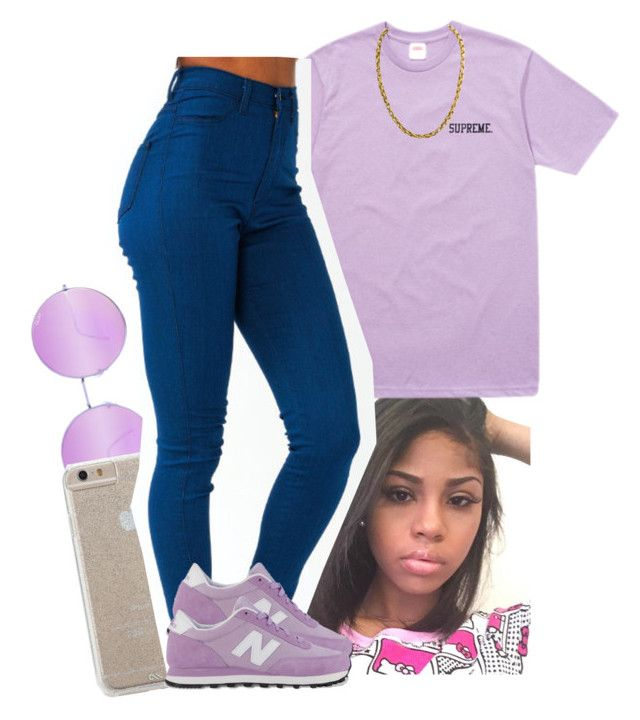 """"""""""" by xtiairax ❤ liked on Polyvore featuring Quay, Case-Mate and New Balance"""