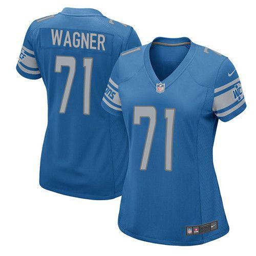 womens nike detroit lions 71 ricky wagner game light blue team color nfl jersey