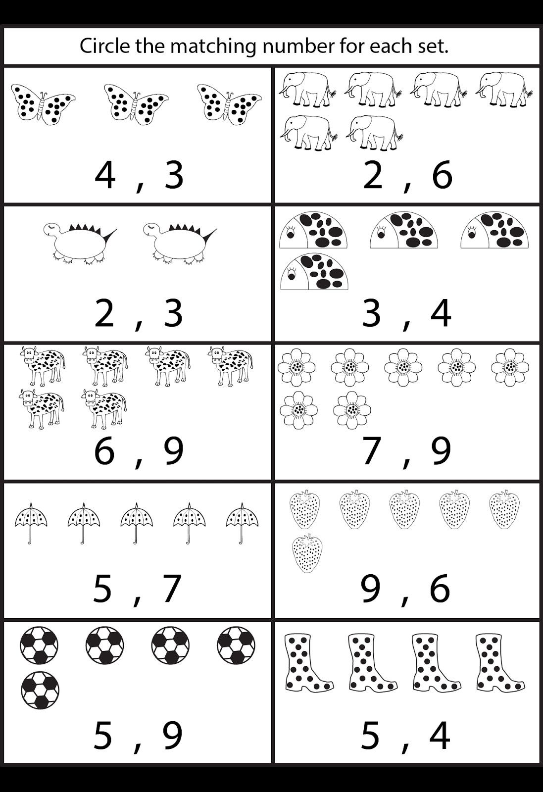 4 Number 9 Worksheet Easy In