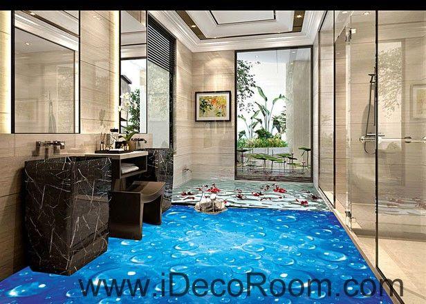 Lovely Blue Starry Night Sky Twinkle Star 00081 Floor Decals 3D Wallpaper Wall  Mural Stickers Print Art