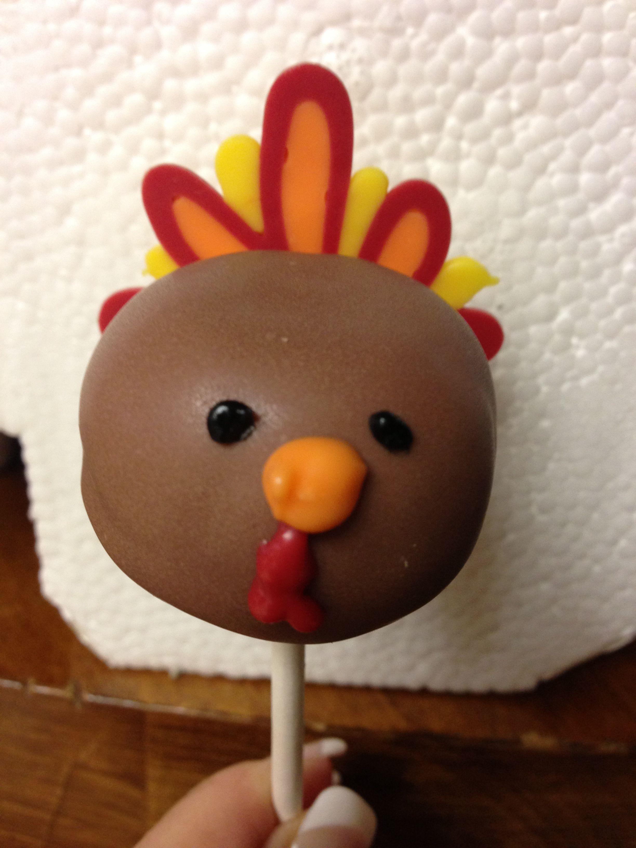 Turkey pops {Thanksgiving Dinner Party} Thanksgiving