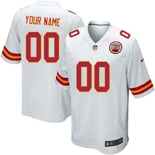 nike kansas city chiefs customized white stitched elite youth nfl jersey