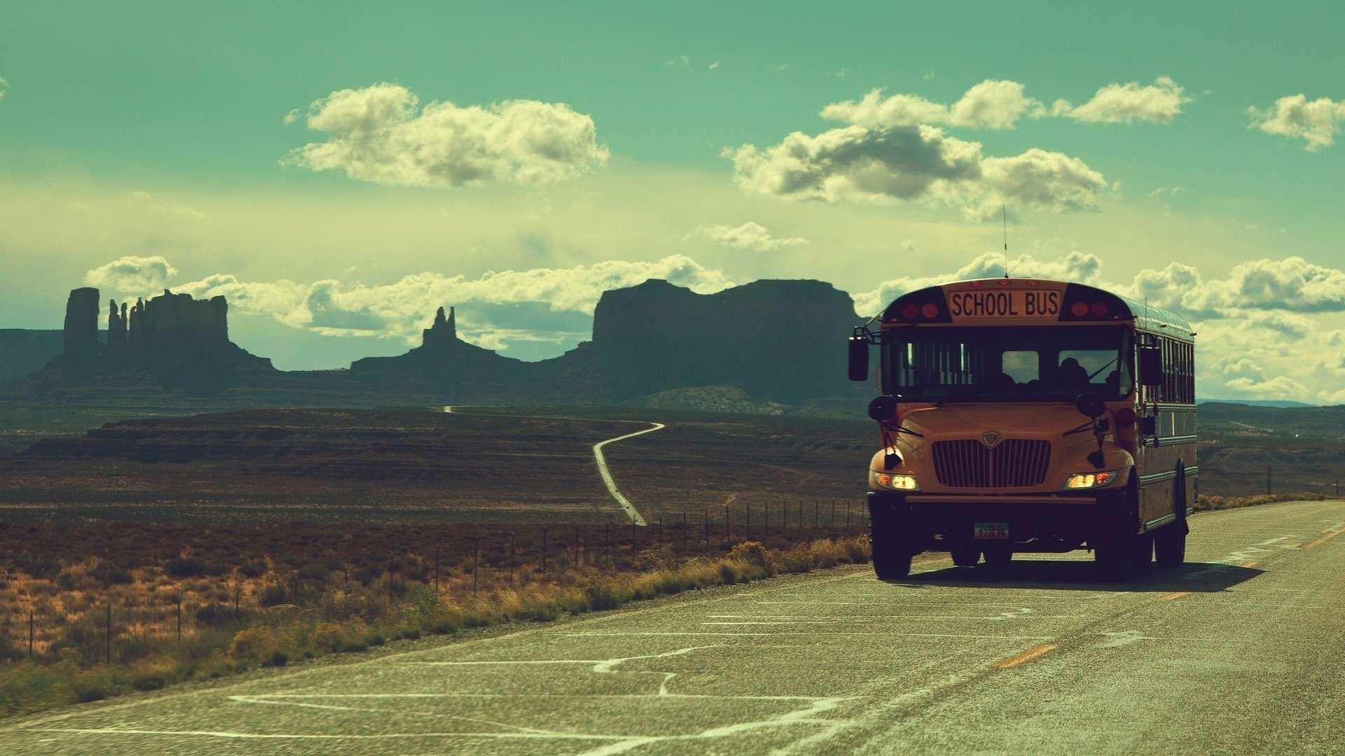 Bus Vintage Hd Wallpapers Landschafts Tapete Vintage Landschaft