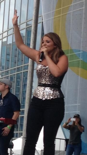 LaurenAlaina captivates 3,000 fans who stood elbow-to-elbow to watch her perform on the Bud Light Stage ~ June 6th, 2014 CMA Fest.