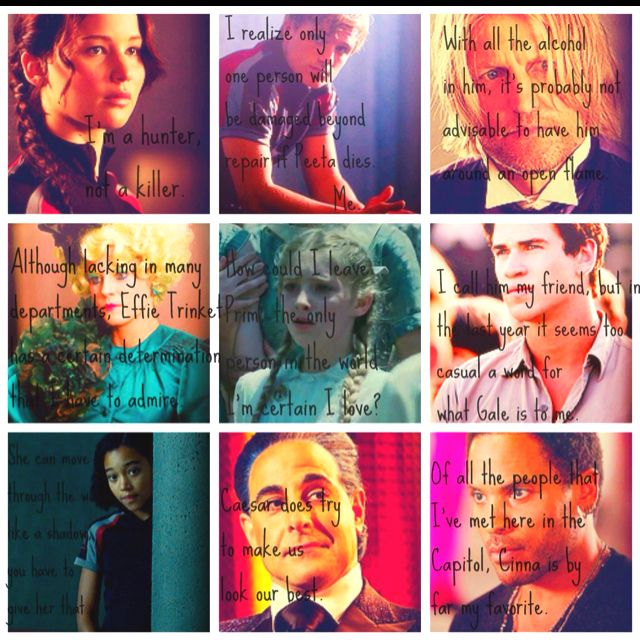 Made a Hunger Games collage. 5 MORE DAYS!