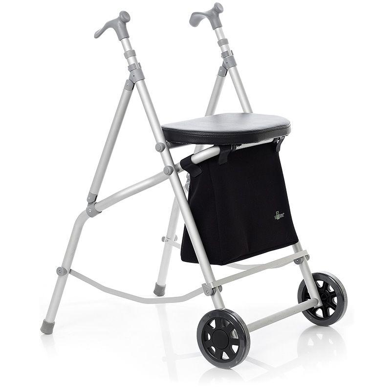 Andador plegable con una capacidad de hasta 115kg y altura ajustable ...