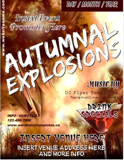 Autumn music event flyer template word business templates autumn music event flyer template saigontimesfo