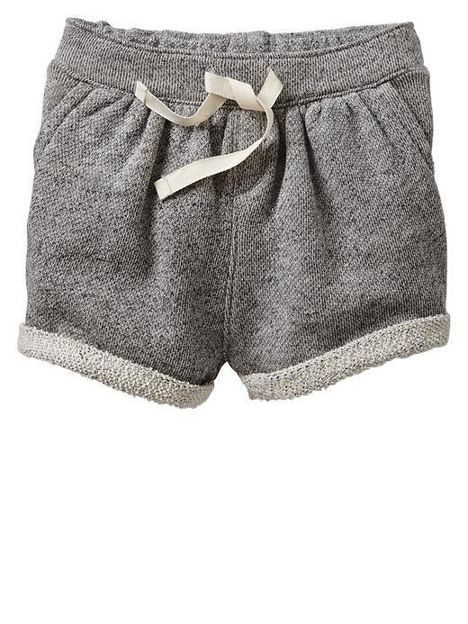 Marled Knit Shorts Toddler Girls Kids Fashion Toddler