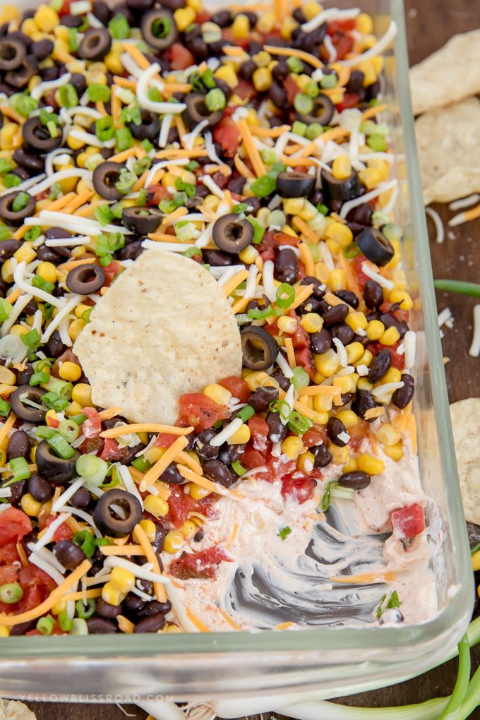 Southwestern 7 Layer Dip #dipsandappetizers