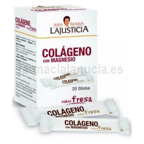 Ana Maria Lajusticia Colageno Con Magnesio Sabor Fresa 20 Stick