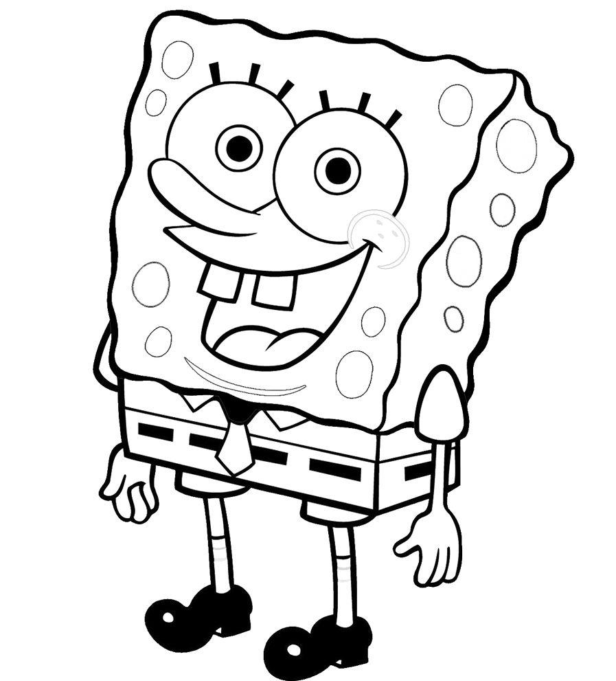 Disegno di spongebob da colorare per i vostri bambini for Maialino disegno per bambini