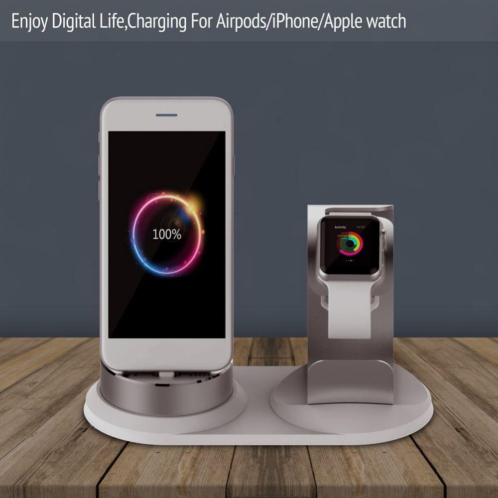 Diy 3 in 1 adjustable desk dock charge holder for apple