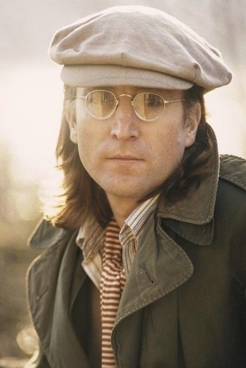 John Lennon - like this shot, seems like we see the real John & not the act he used to put on for the cameras.