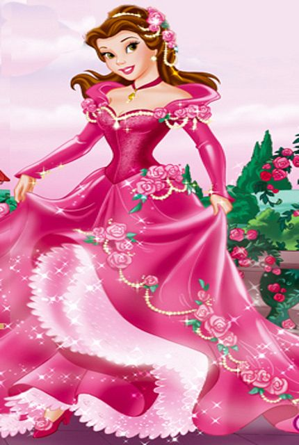 Princess Belle In Pink Flower Gown Different Kind Of Disney