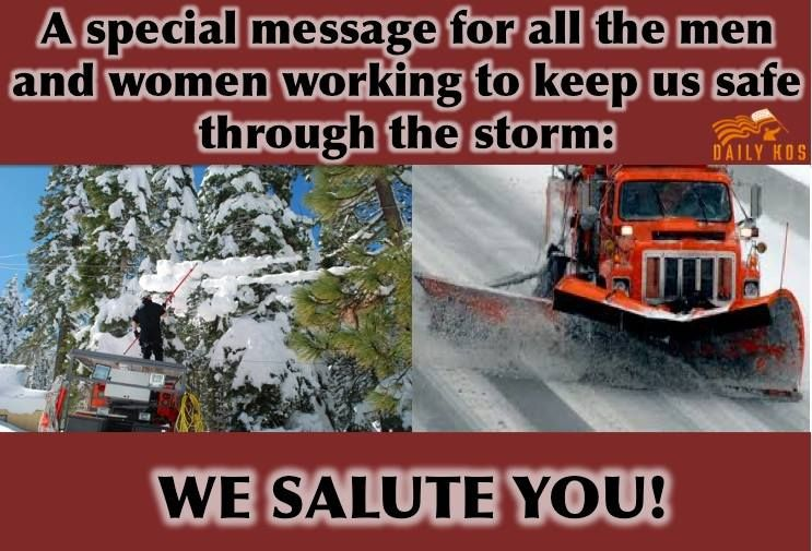 For the utility workers, tree trimmers, snow plow drivers