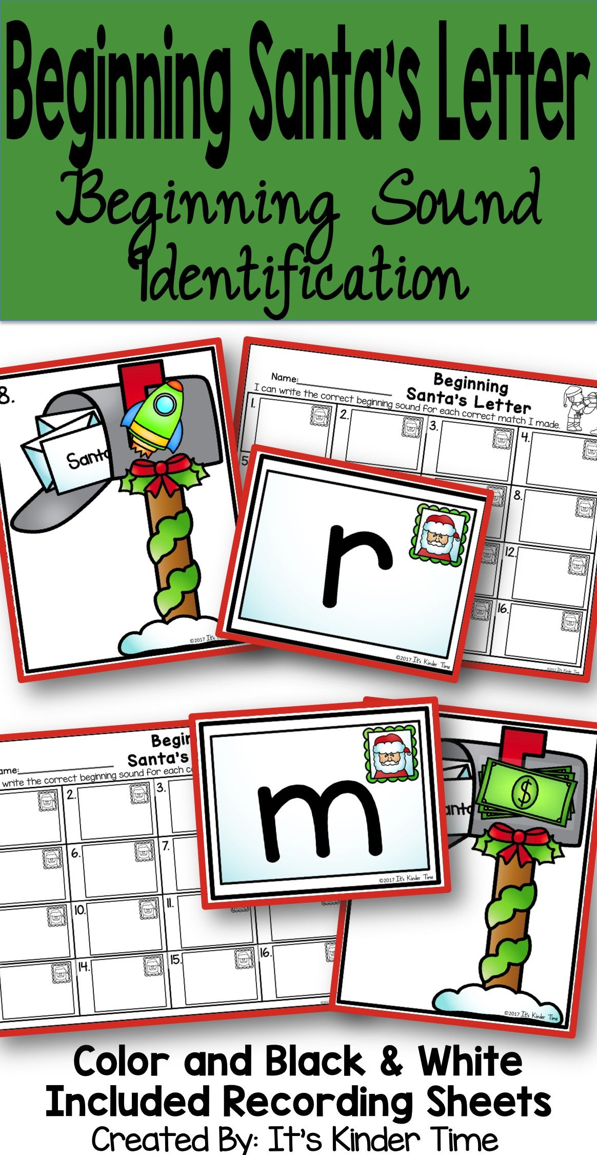 Beginning Santa\'s Letter - Beginning Sound Identification ...