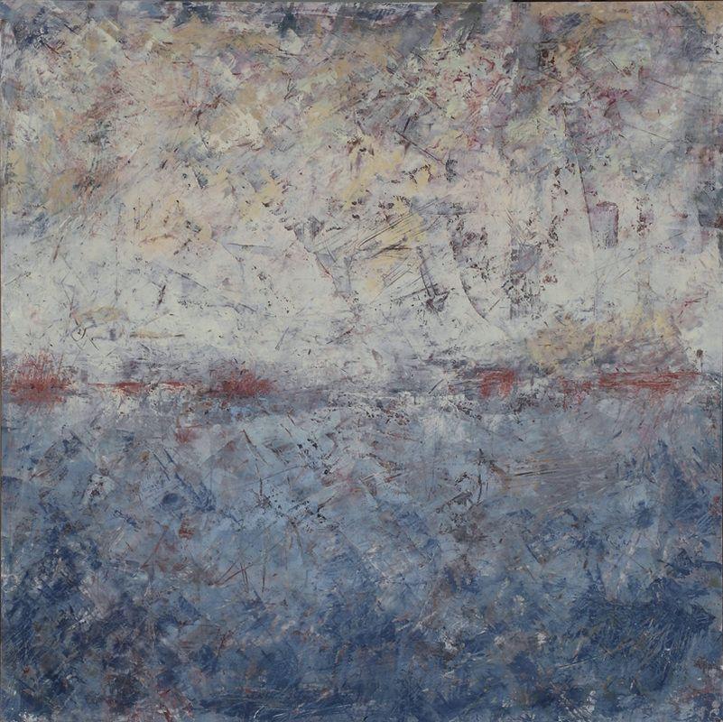 """della terra I, oil on panel, 24""""x 24"""""""