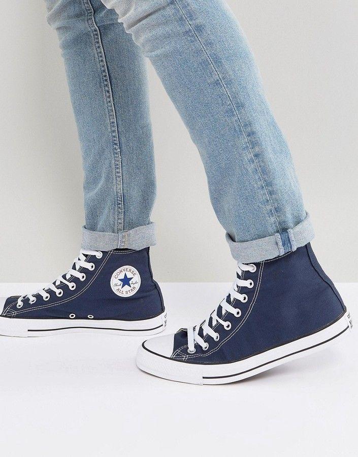 Converse Hi Sneakers In Navy M9622C