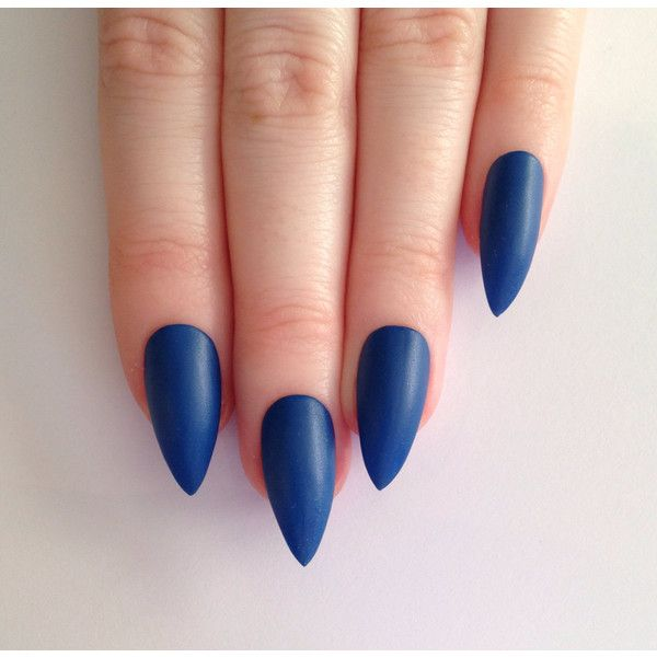 Matte Blue Stiletto nails, Nail designs, Nail art, Nails, Stiletto ...