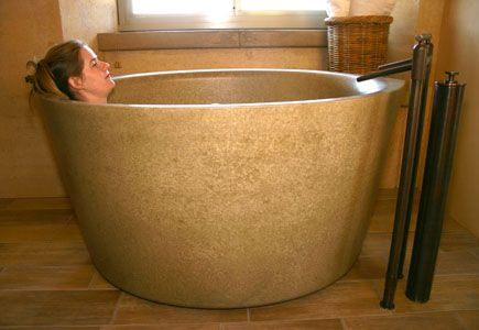 Concrete Bath Tubs Ofuro Soaking Tub From Sonoma Cast