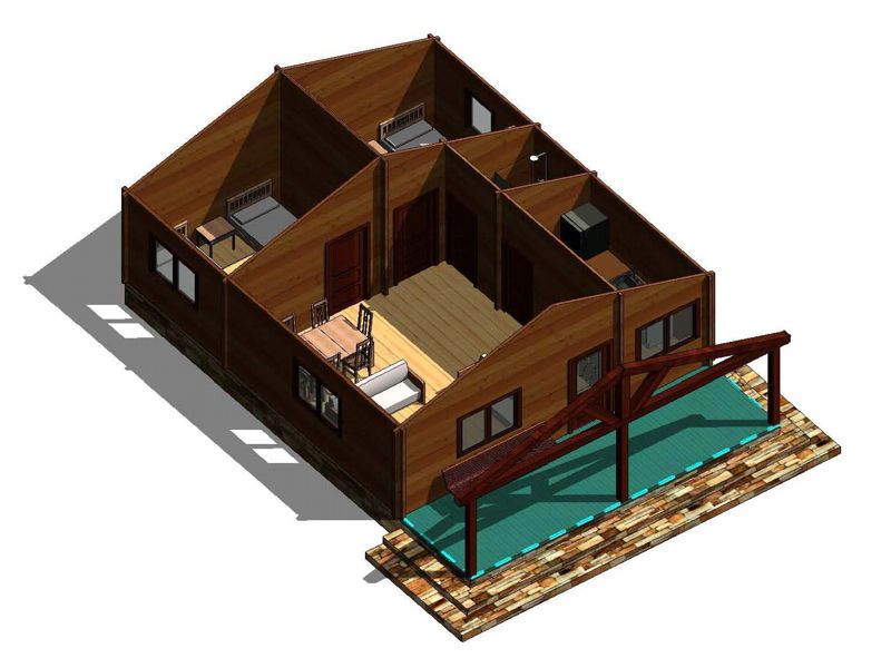 Plano 2 casa de madera galicia carpinter a 12 - Carpinteria casas ...