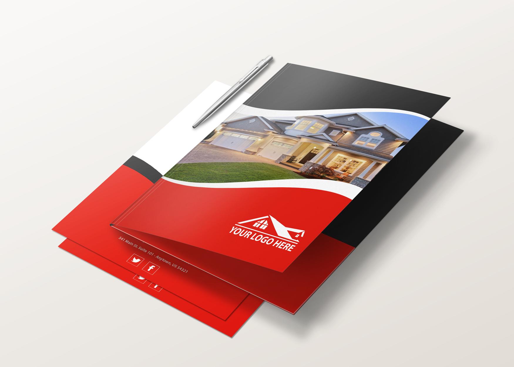 Custom designed real estate presentation folders from Realty-Cards ...