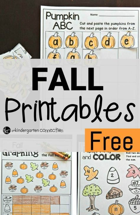 Free Fall Printables | Abc activities, Pre-school and Maths