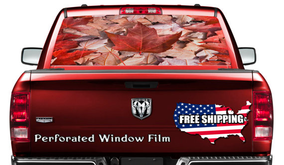 Canadian Flag Car Window Sticker Wrap Canada Flag Car Decal Flag Full Color Print Perforated Film Truck Suv Back Window Sticker Perf023 Car Window Stickers Window Stickers Window Graphics