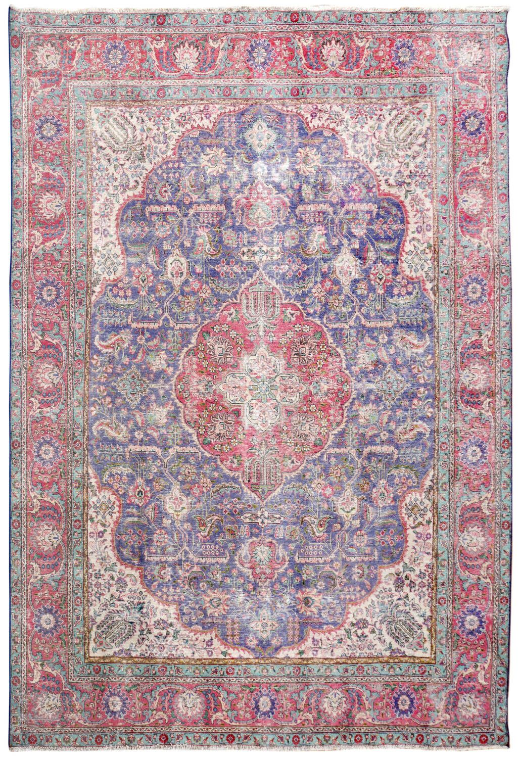 Geometric Tabriz Persian Distressed Area Rug 10x12 In 2020 Area Rugs Rugs Geometric