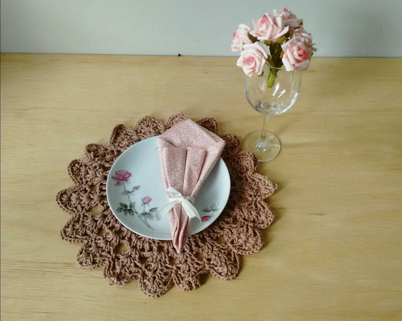 Souplast em Crochê com Barbante Nobre + guardanap