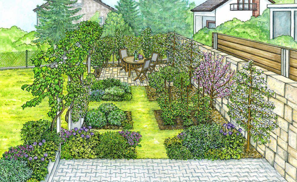 1 Garten 2 Ideen Ein Hubscher Obstgarten Entsteht Obstgarten Garten Nutzgarten Anlegen