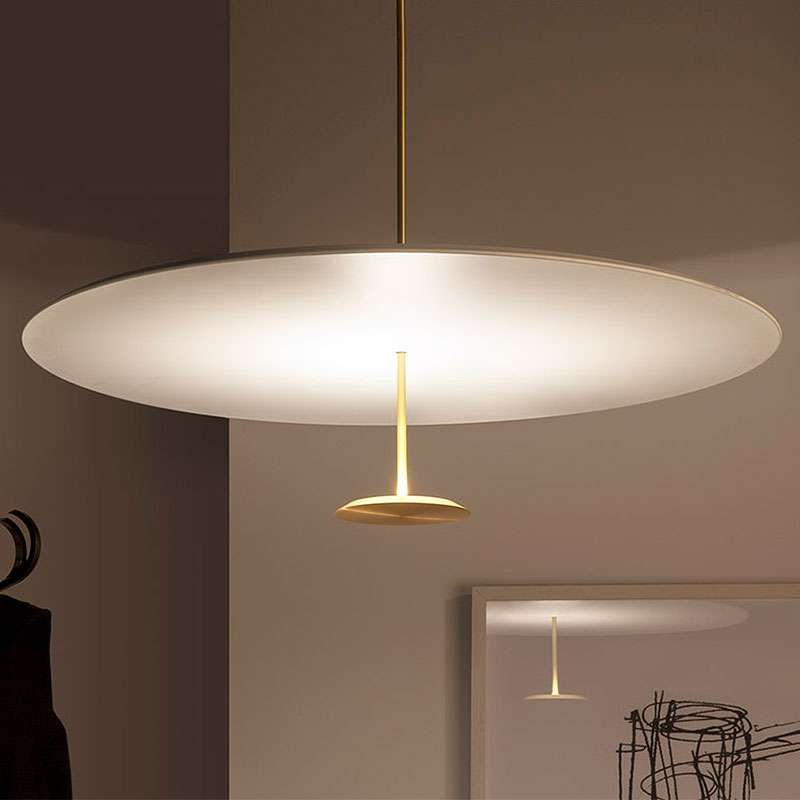 Design foster partners the lumina dot pendant light began as an idea to create a disc of light the result is a minimal pendant light that gives
