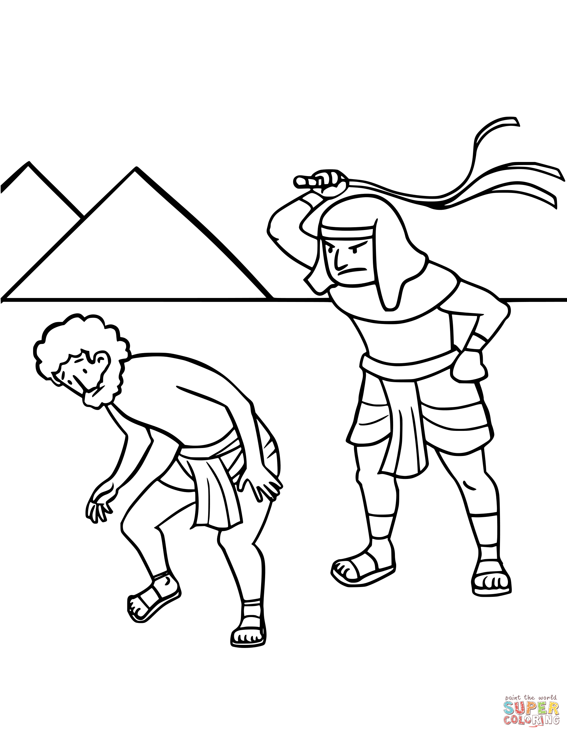 Israel S Enslavement In Egypt Coloring Page Free Printable Coloring Pages Bible Coloring Pages Flag Coloring Pages Free Printable Coloring Pages