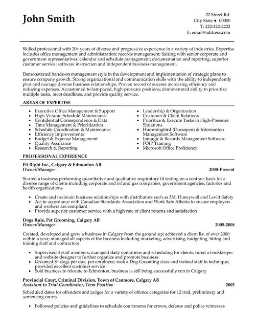 Click Here to Download this Owner or Manager Resume Template!