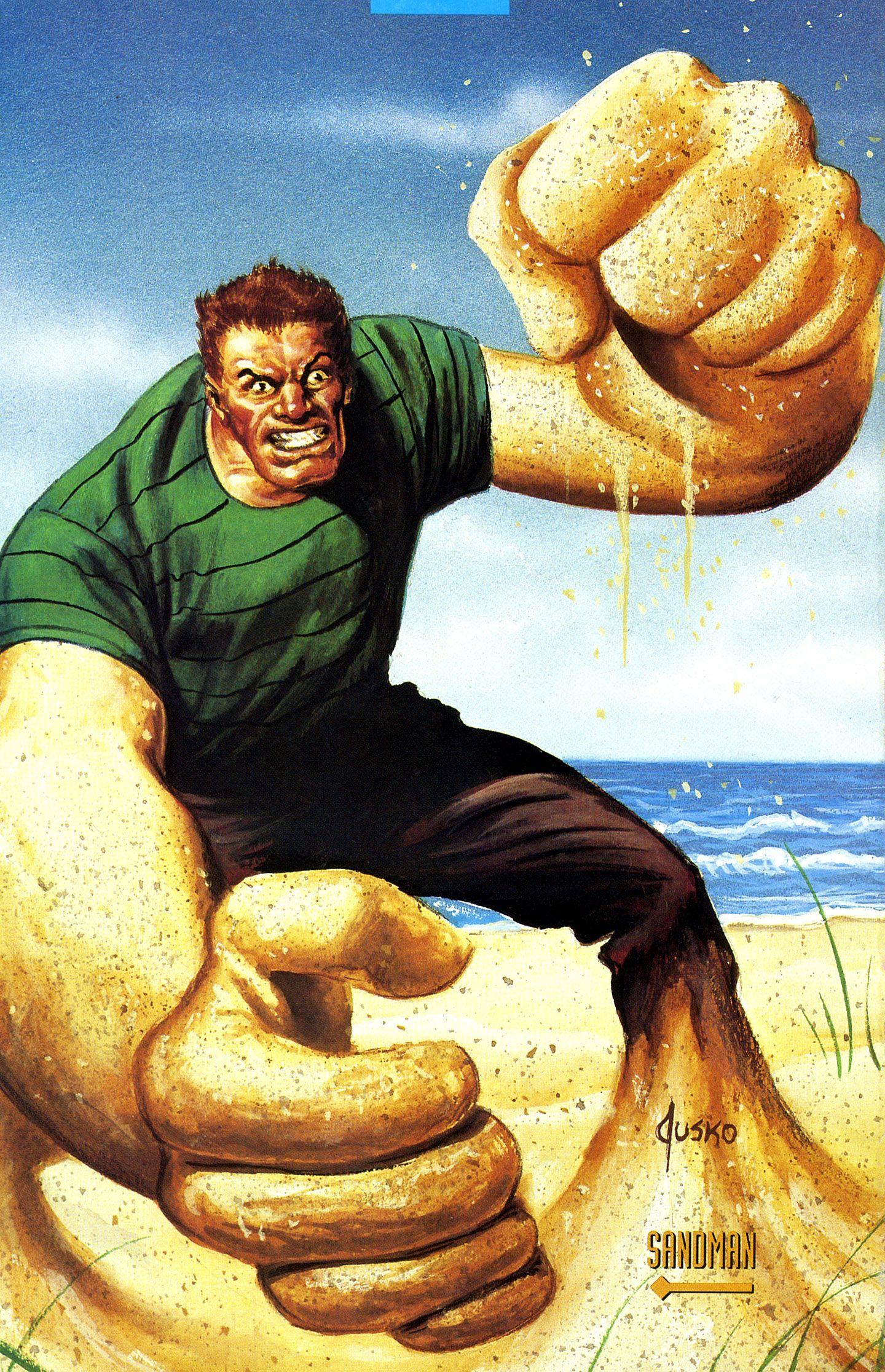Sandman by Joe Jusko | Sandman spiderman, Comic book ...