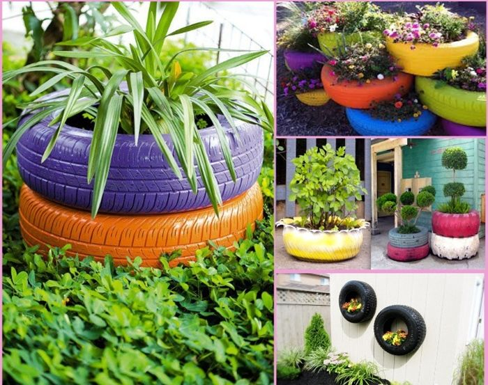Things to do with flower pots ideas for old tires so creative things creative diy - Garden ideas using tyres ...