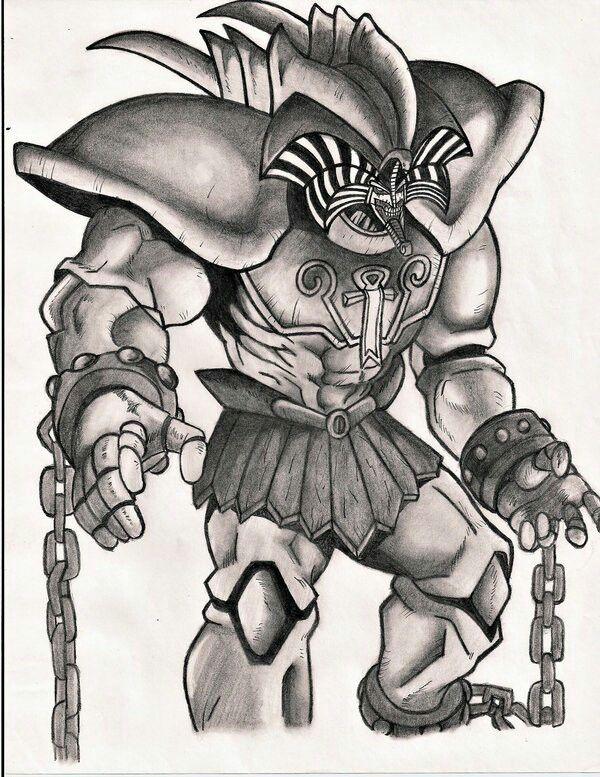 Exodia Dibujos Yugioh Personajes Dioses Egipcios