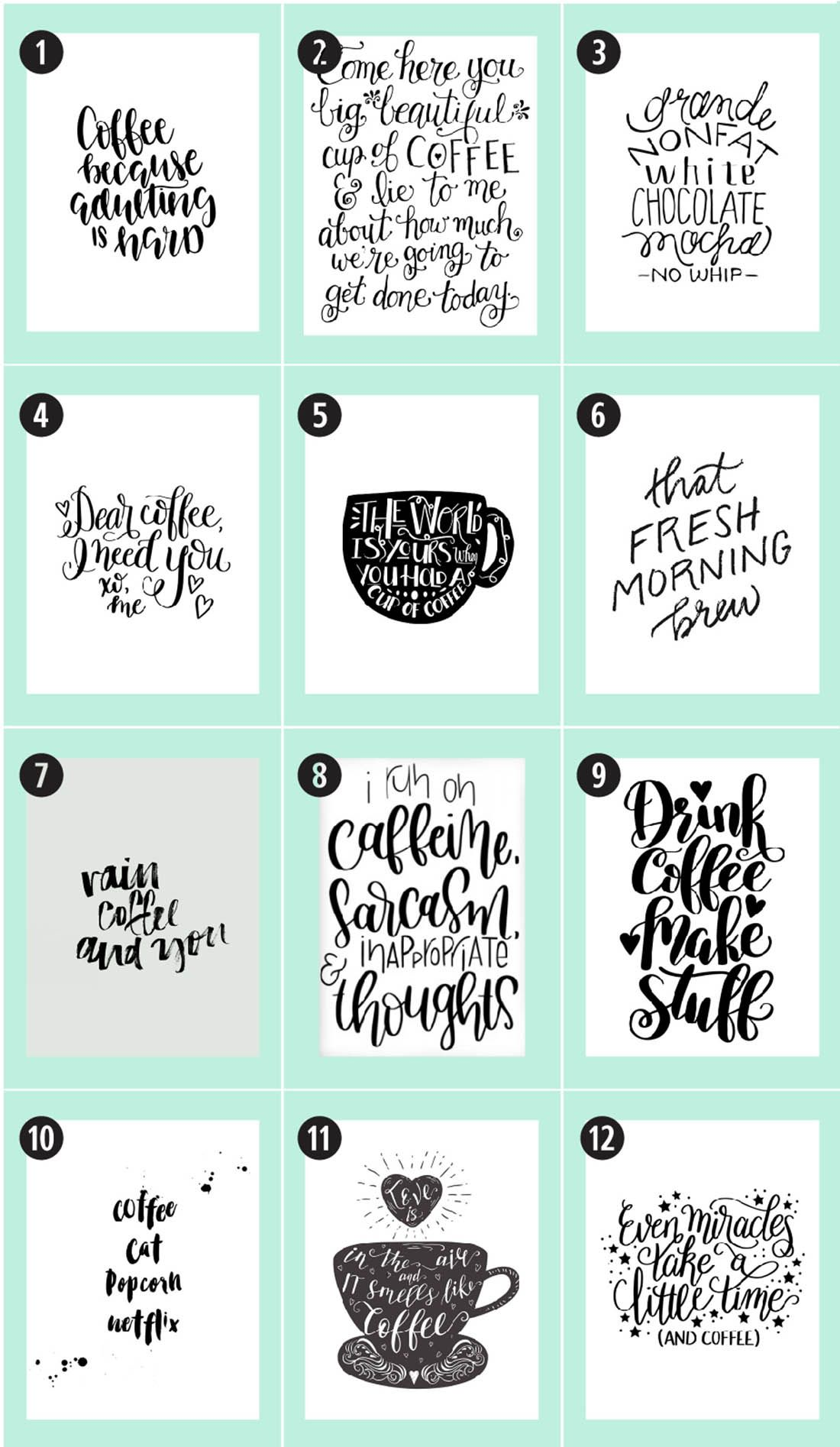 Coffee Free Printables 180 Ultimate Guide