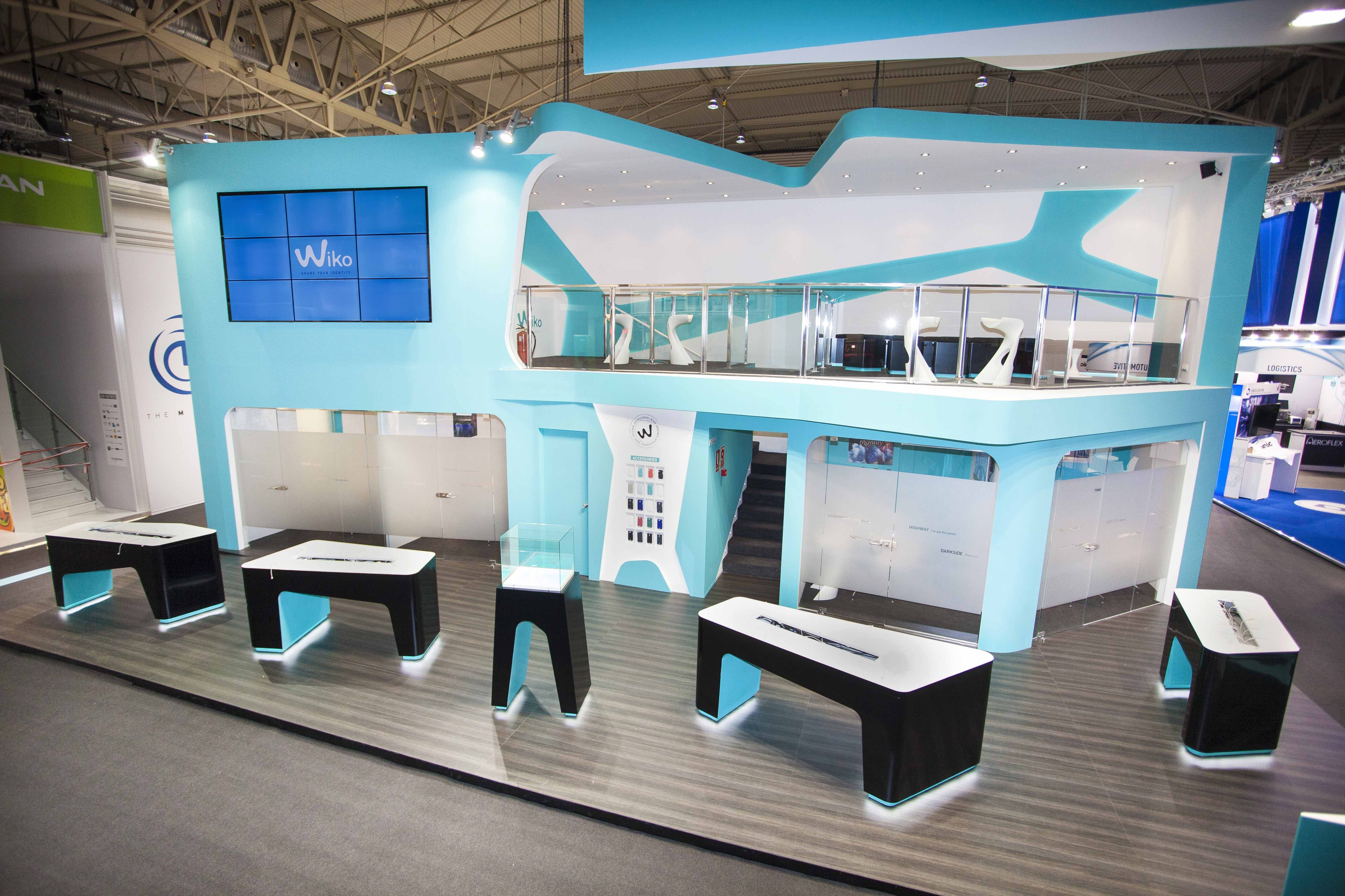 Marketing Ideas For Exhibition Stand : Stand double deck mobile world congress barcelona stands booth