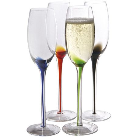 I Pinned This Splash Flute Glass Set Of 4 From The Eclectic Chic Event At Joss And Main Flute Glass Champagne Flute Set Glass Champagne Flutes