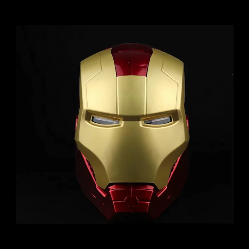 2019 New Marvel Avengers Super Hero Iron Man Helmet 1 1 Ironman Mask Pvc Action Figure Cosplay Light Led Model Toys G Iron Man Helmet Iron Man Iron Man Cosplay