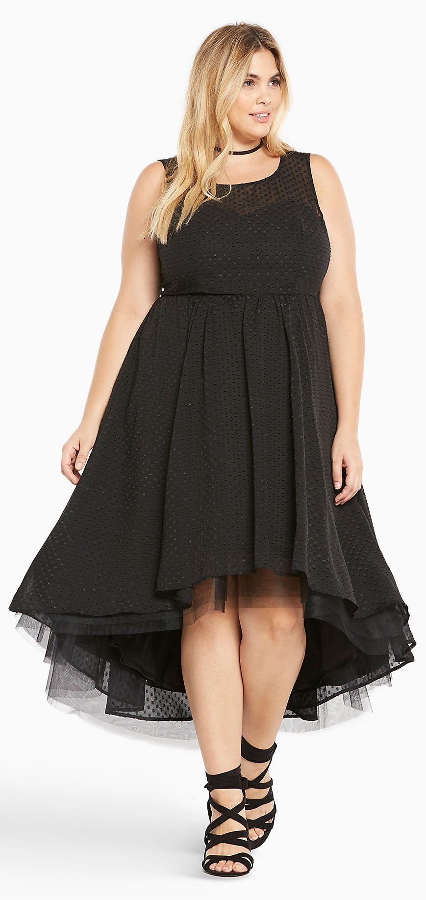 Plus Size Hi-Lo Chiffon Dress | Vintage looking dresses ...