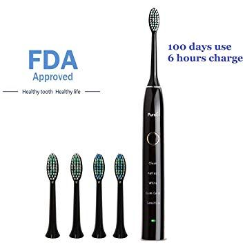 Sonic Electric Toothbrush Travel Rechargeable for Superior