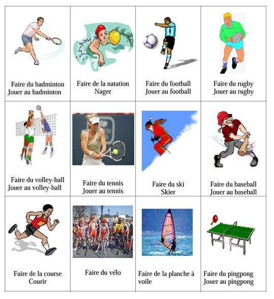 A. Vocabulaire Niveau A1 1. Vocabulaire : les sports 2 ...