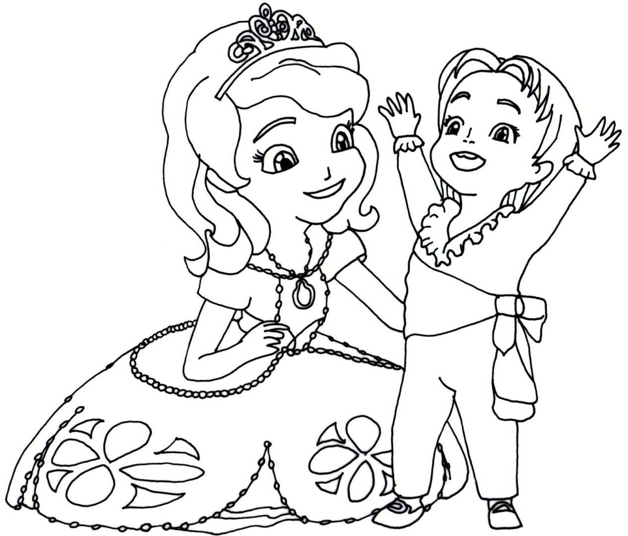 Coloringsco Princess Sofia Coloring Pages