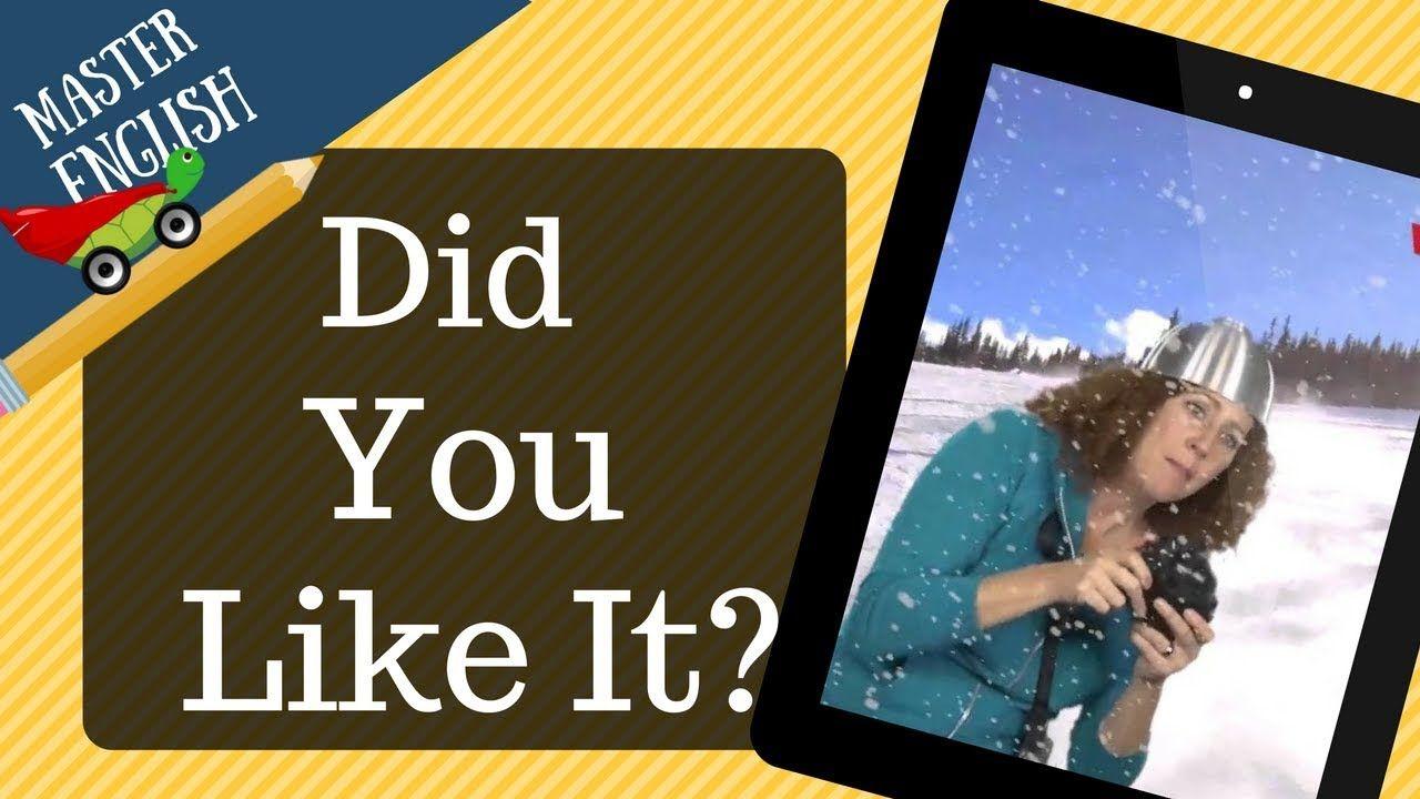 33 أفضل وأسرع طريقة لتعل م الإنجليزية بالصوت والصورة تعلم من خلال القصص Did You Like It Youtube Book Cover Do You Like It Film
