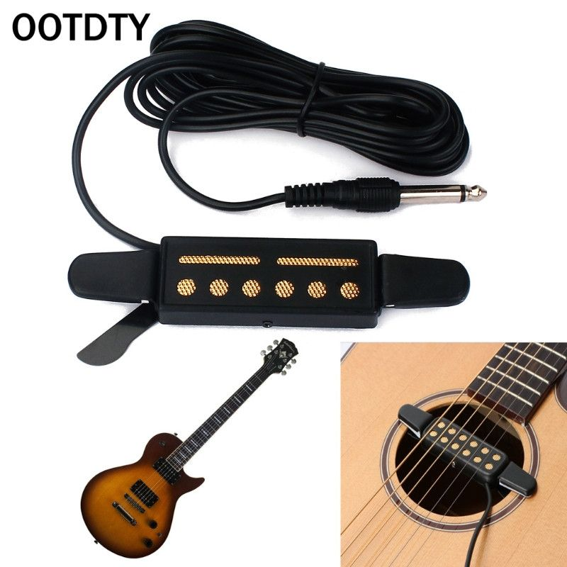 Cheap Offers Ootdty 12 Hole Sound Pickup Microphone Amplifier Speaker For Acoustic Guitar Instrumen In 2020 Speaker Amplifier Acoustic Guitar Amplifier